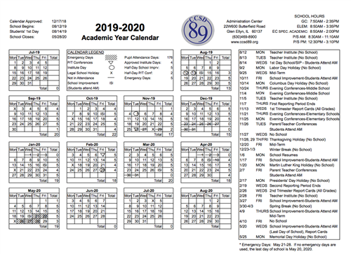 Ccsd Calendar 2020 Board of Education approves calendar for 2019 20 school year