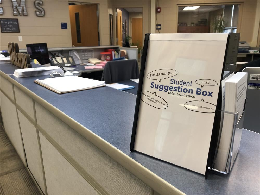 Suggestion boxes gives students more opportunities for input