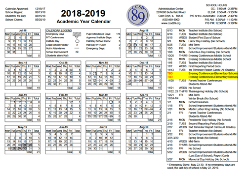 Board Of Education Approves Calendar For 2018 19 School Year