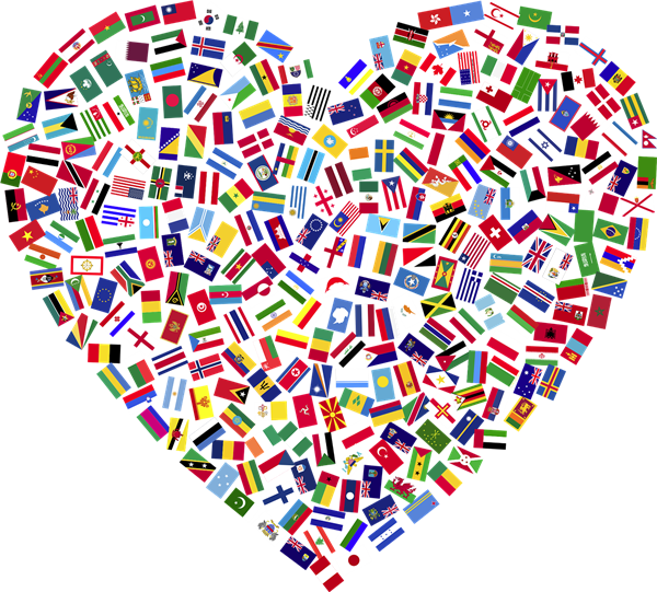Heart with flags